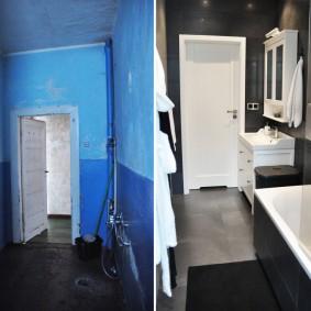 Фото санузла в трешке до и после ремонта