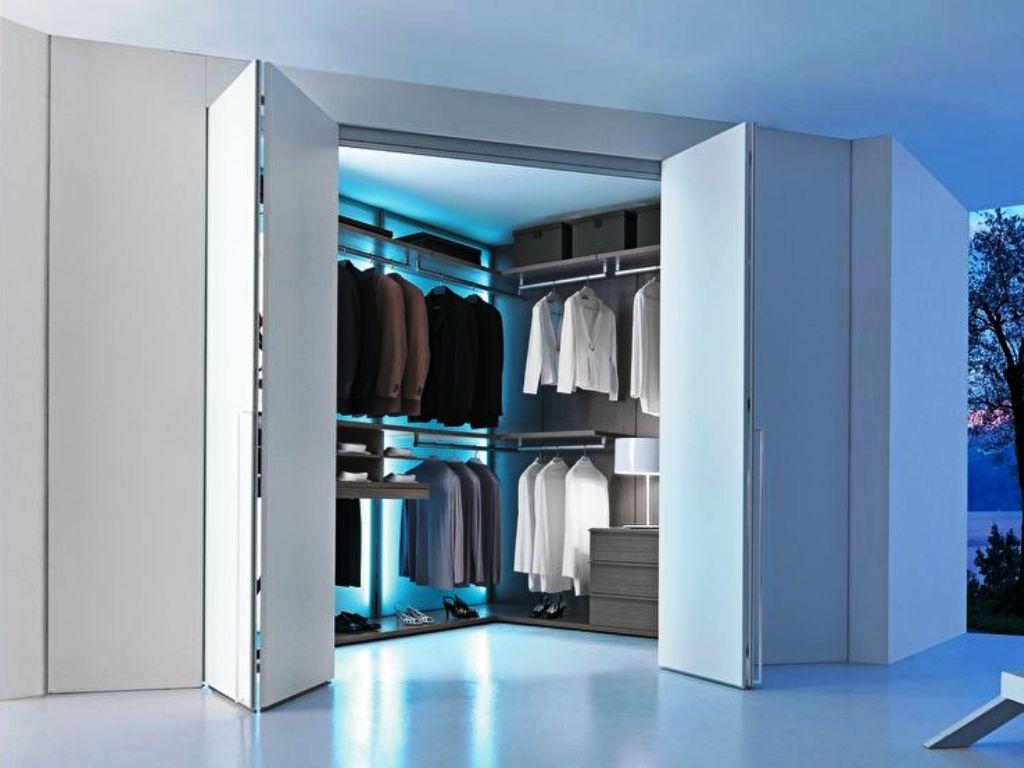 варианты гардеробной в гостиной