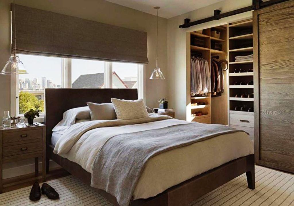 варианты гардеробной в спальне фото