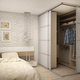 варианты угловой гардеробной комнаты
