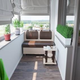 варианты выбора мебели на балконе