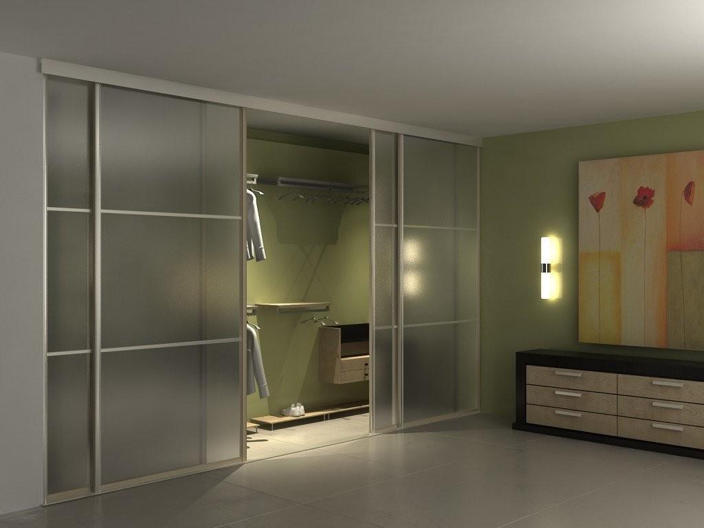Встроенный шкаф-гардеробная с матовыми дверцами