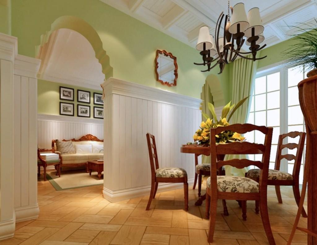 Красивая арка между залом и столовой комнатой