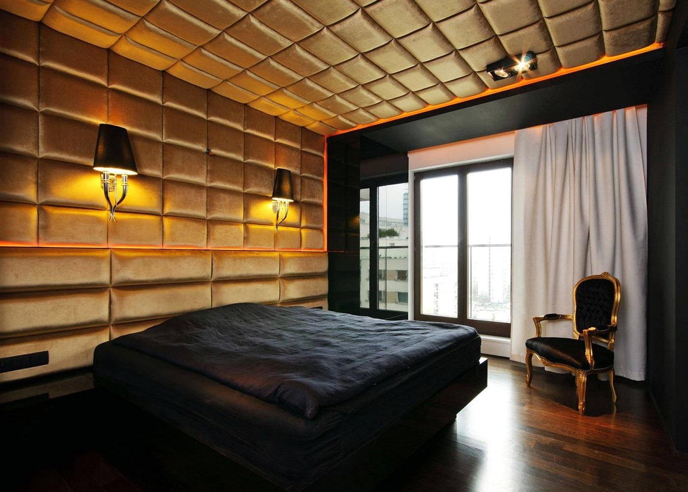 чёрная спальня декор
