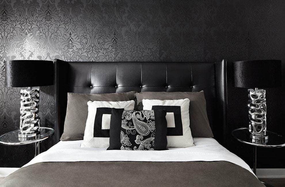 чёрная спальня фото идеи