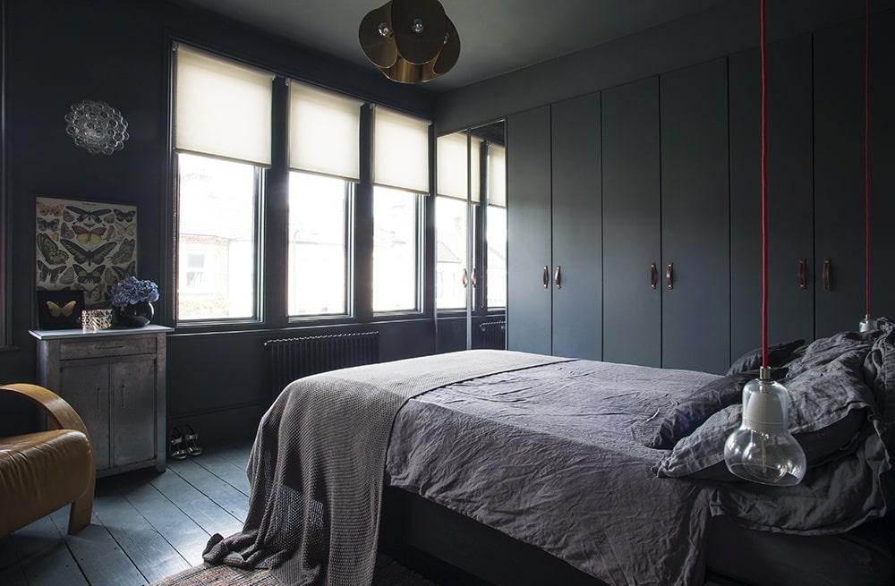чёрная спальня идеи дизайн