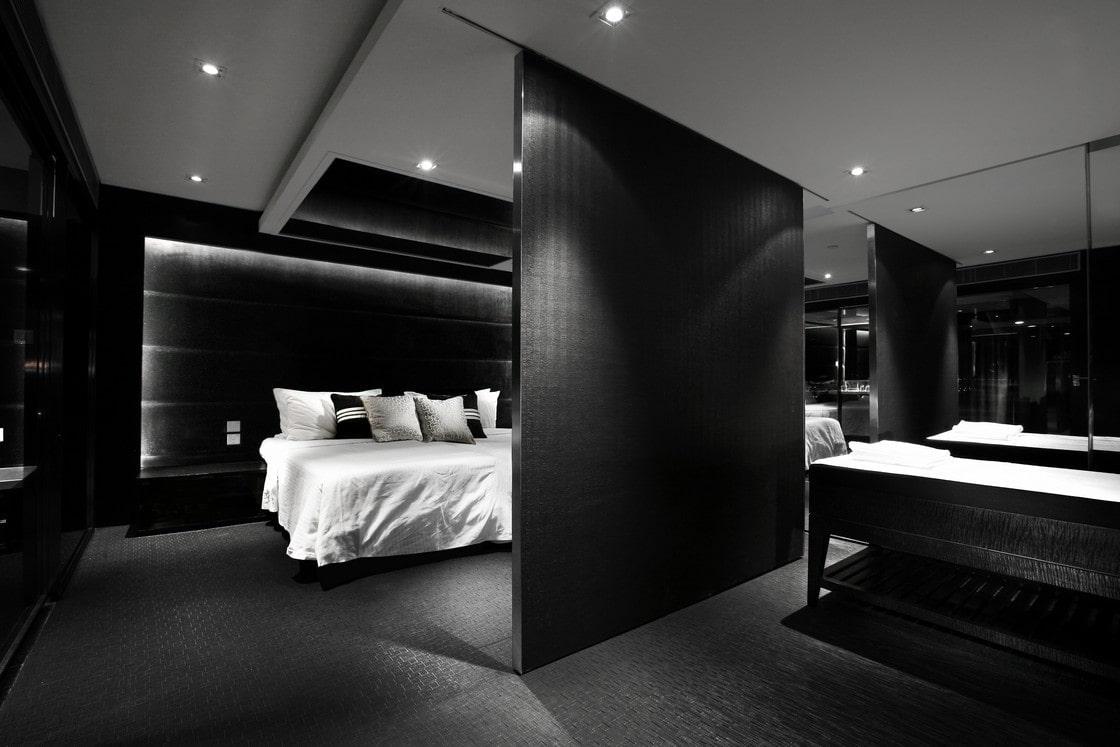 чёрная спальня идеи