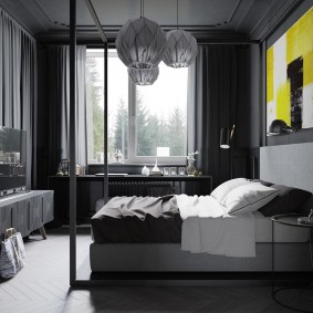 черная спальня виды фото