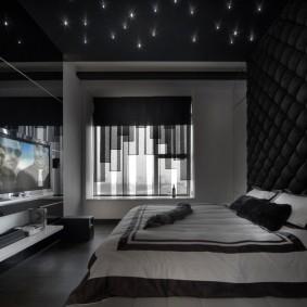 черная спальня виды идеи