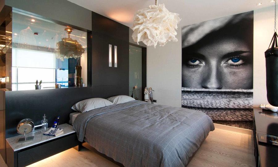 Фотоообои в интерьере мужской комнаты