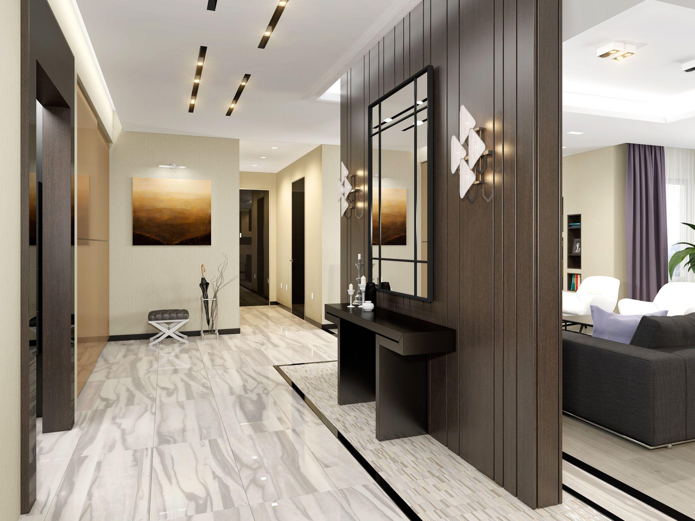 декор прихожей комнаты в современном стиле
