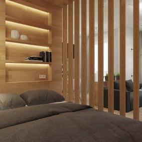 деревянные перегородки для зонирования декор фото