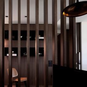 деревянные перегородки для зонирования идеи декор