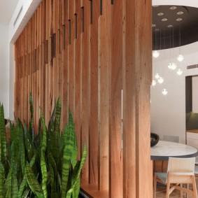 деревянные перегородки для зонирования идеи оформление