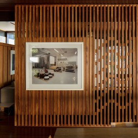 деревянные перегородки для зонирования идеи фото