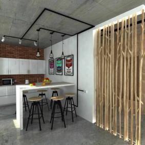 деревянные перегородки для зонирования идеи интерьер