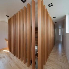 деревянные перегородки для зонирования варианты