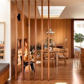 деревянные перегородки для зонирования виды дизайна