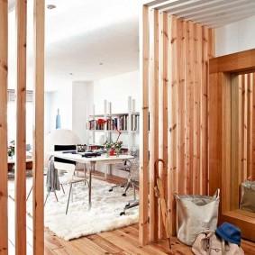 деревянные перегородки для зонирования виды декора