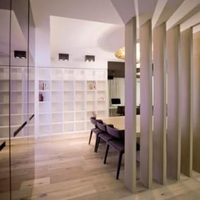 деревянные перегородки для зонирования декор