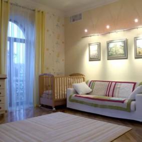 детская и спальня в одной комнате дизайн фото