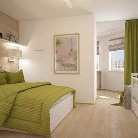 детская и спальня в одной комнате дизайн интерьера