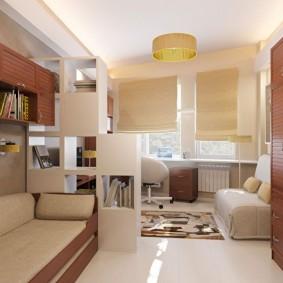 спальня и детская в одной комнате фото интерьера