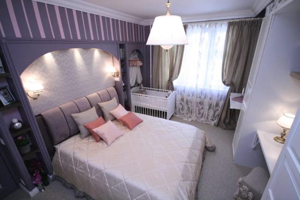 детская и спальня в одной комнате мебель