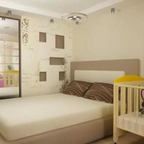 спальня и детская в одной комнате идеи интерьера