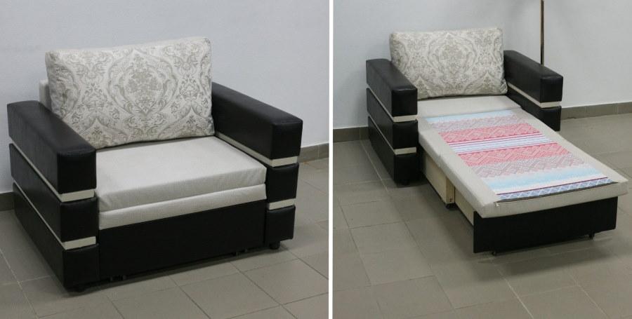 Раскладка дивана-кубика для детской комнаты