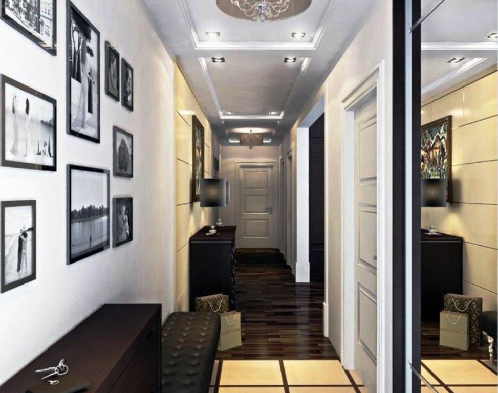 дизайн узкого коридора фото
