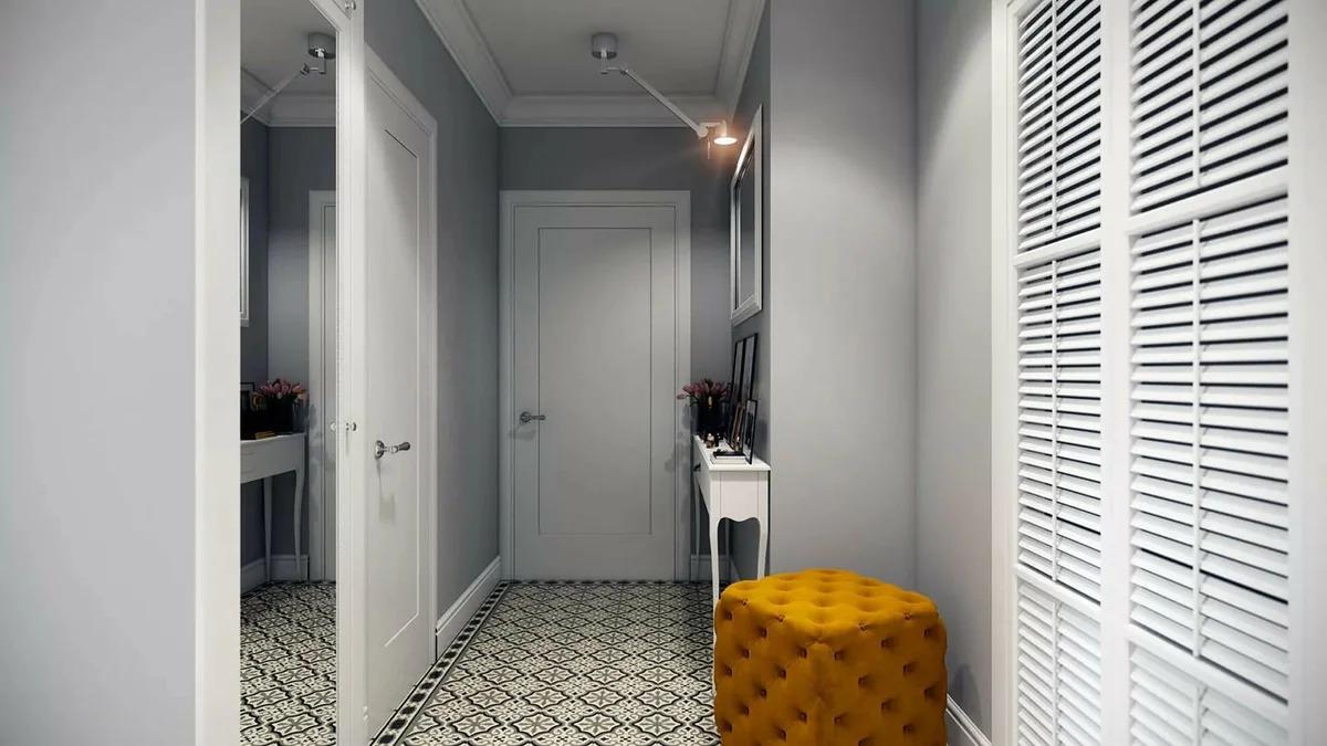 дизайн узкого коридора скандинавский стиль фото