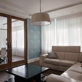 двери в зал и гостиную декор