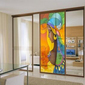 двери в зал и гостиную фото виды