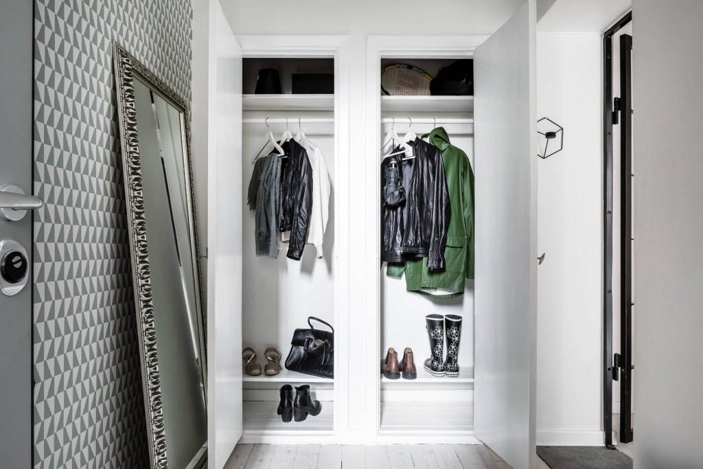 Двойной гардероб с распашными дверками