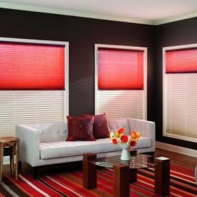 двойные шторы для зала виды оформления