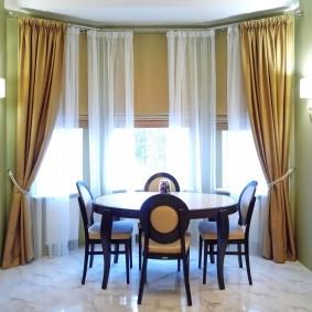 двойные шторы для зала фото виды