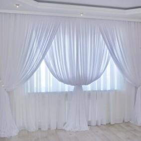двойные шторы для зала идеи виды
