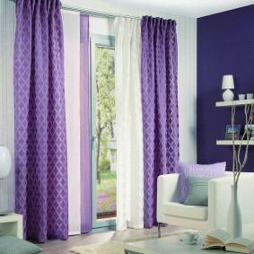 двойные шторы для зала дизайн идеи