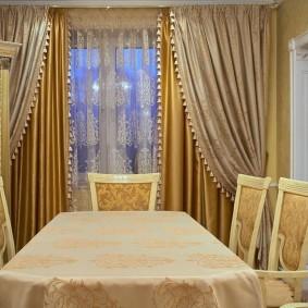 двойные шторы для зала декор