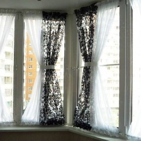 двойные шторы для зала декор идеи
