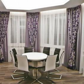 двойные шторы для зала идеи декор