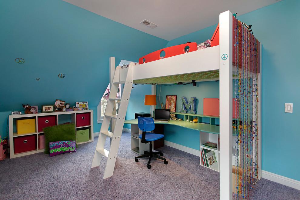 Детская кровать-чердак с рабочим столом