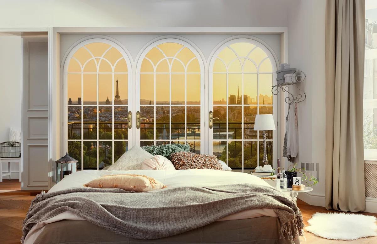 фальшь окна в спальне