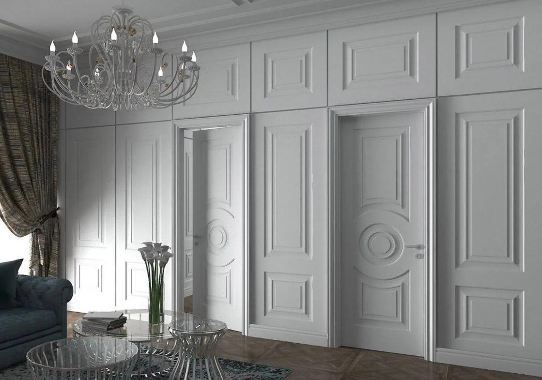 филенчатые двери в зал