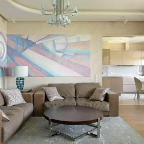 Расстановка мебели в зале с двумя диванами