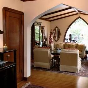 Куполообразная арка из гипсокартона на оцинкованном профиле