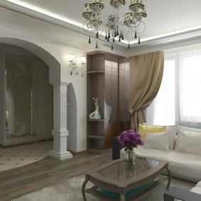 Интерьер зала в неоклассическом стиле