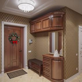 Современная мебель в коридоре двухкомнатной квартиры