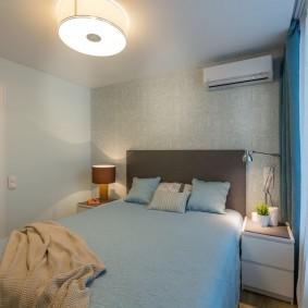 Уютная спальня в хрущевке с 3 комнатами